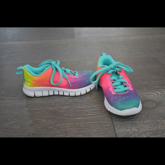 Nike Shoes | Girls Colorful Nikes Size